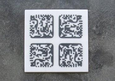 DataMatrix-Code auf Grabstein